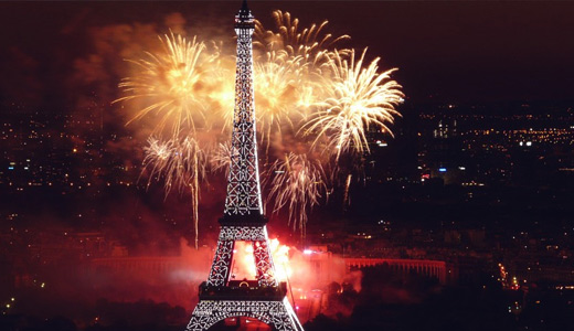 Fireworks eiffel tower wallpapers free download hi res