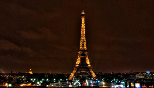 Night lights eiffel tower wallpapers free download hi res
