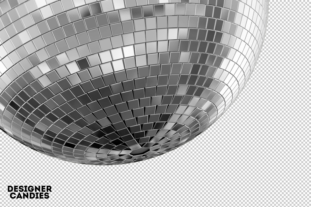 Disco Ball Render Close Up