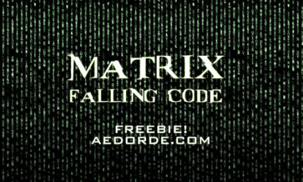 Free Footage – Matrix Falling Code From AEdorde.com