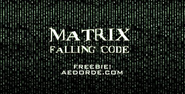 Free Footage - Matrix Falling Code