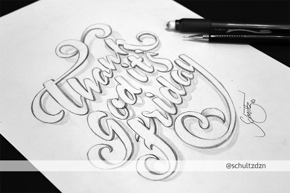 20 Amazing Examples of Typography Sketches for Your Inspiration
