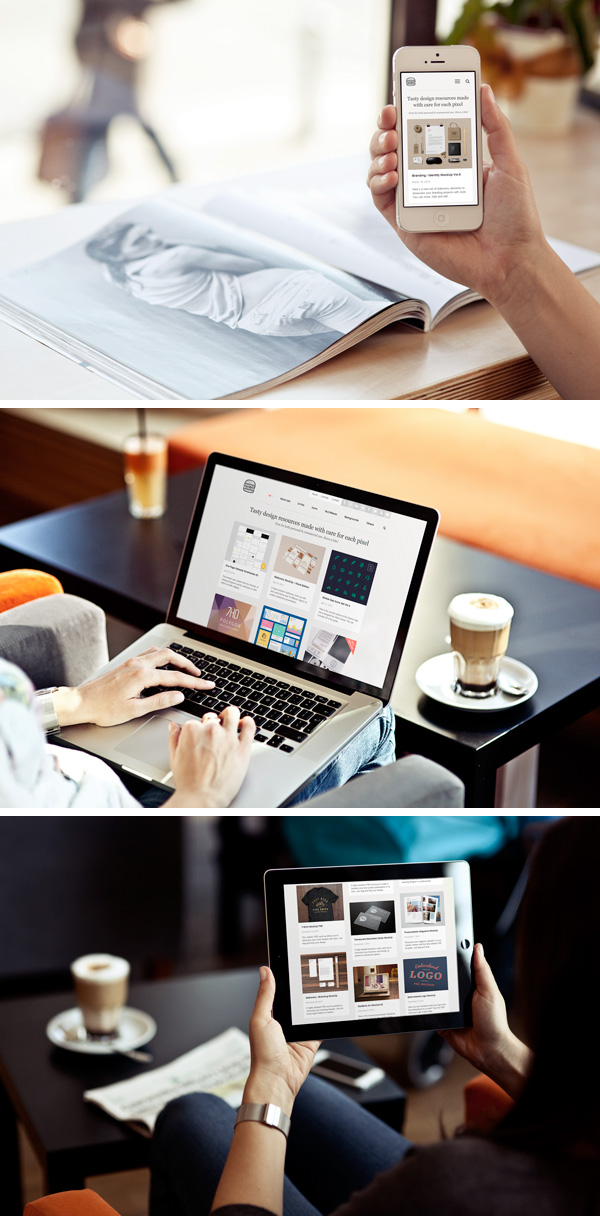 Free Photo MockUps – iPhone, iPad & MacBook 1