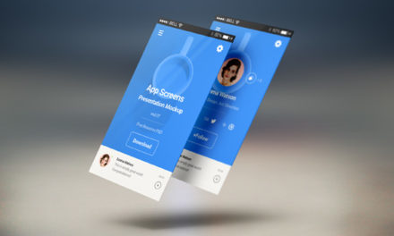 Free Perspective App Screens Mock-Up 7