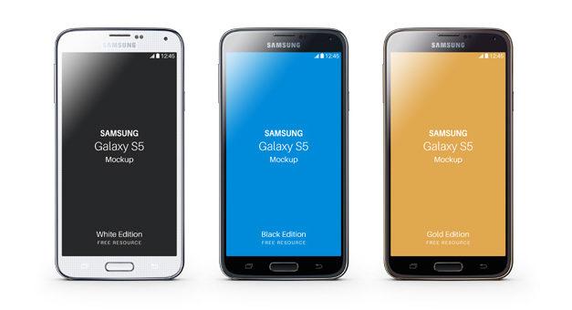 Free Samsung Galaxy S5 Psd Mockup