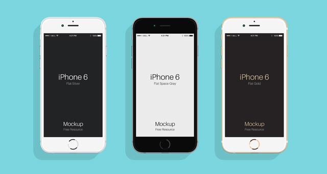 Free Flat Psd iPhone 6 & 6s Mockup
