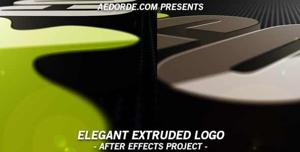 Elegant Extruded Logo - After Effects Project only $5