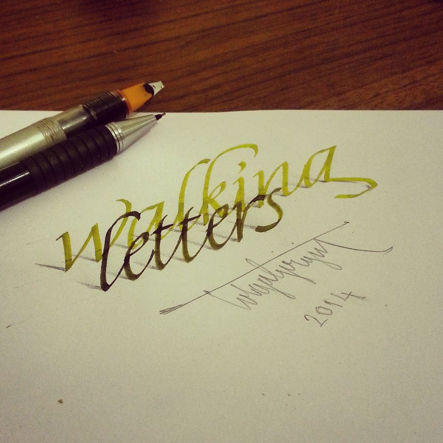 3D Anamorphic Lettering Illustrations 1
