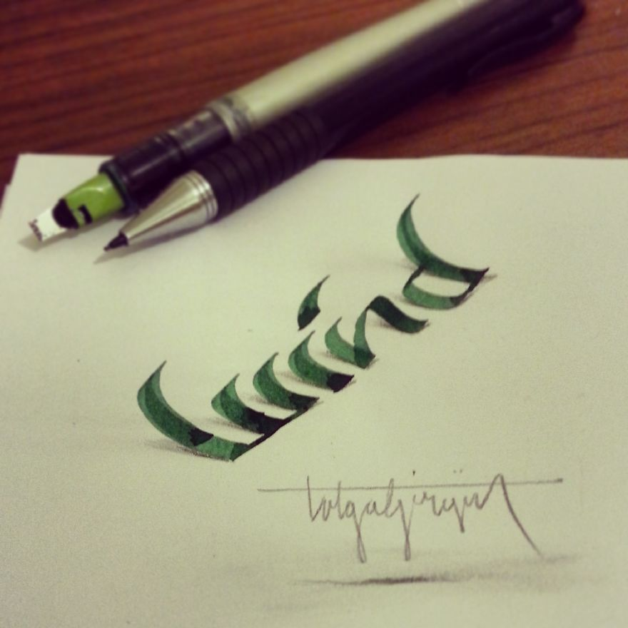 3D Anamorphic Lettering Illustrations 4