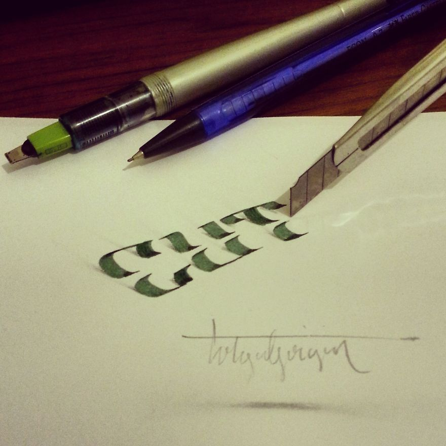 3D Anamorphic Lettering Illustrations 6