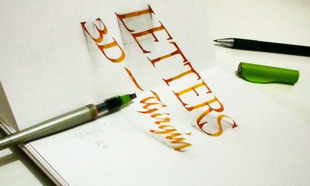 3D Anamorphic Lettering Illustrations