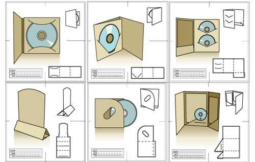 blank CD packaging template in vector format