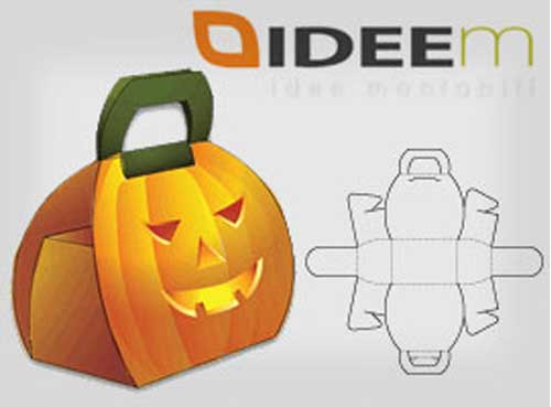 free blank pumpkin-shaped box packaging design templates
