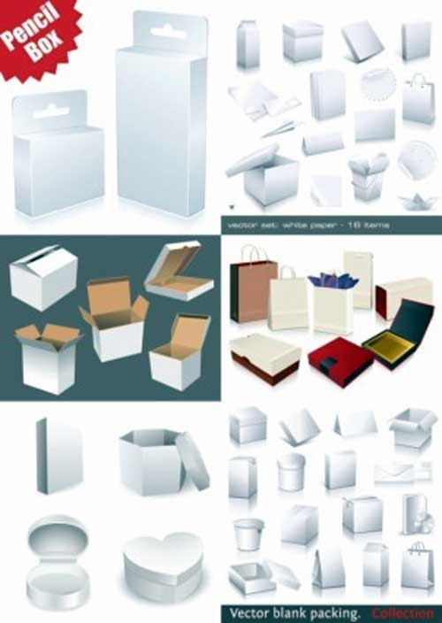 free blank utility boxes packaging design templates
