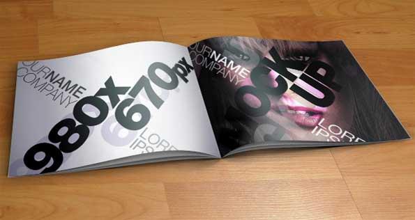 catalogue PSD 3D mockup template
