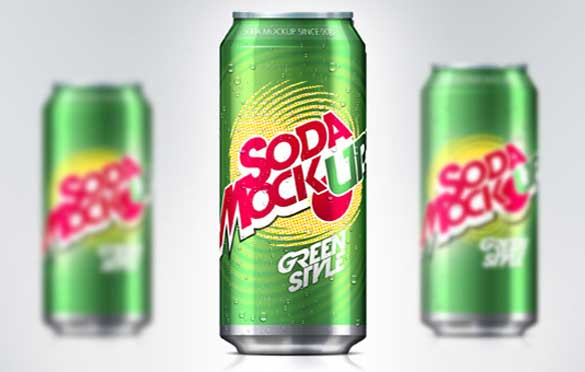 soda can psd packaging mock up template
