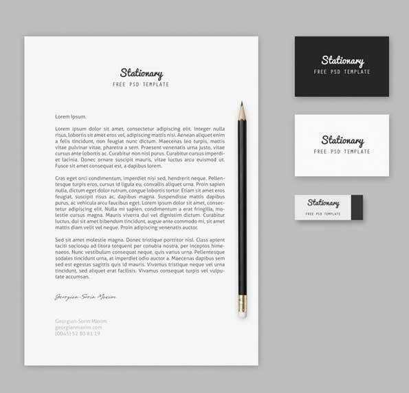 stationery branding PSD 3D mockup template