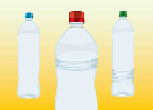 free blank plastic water bottles packaging design templates