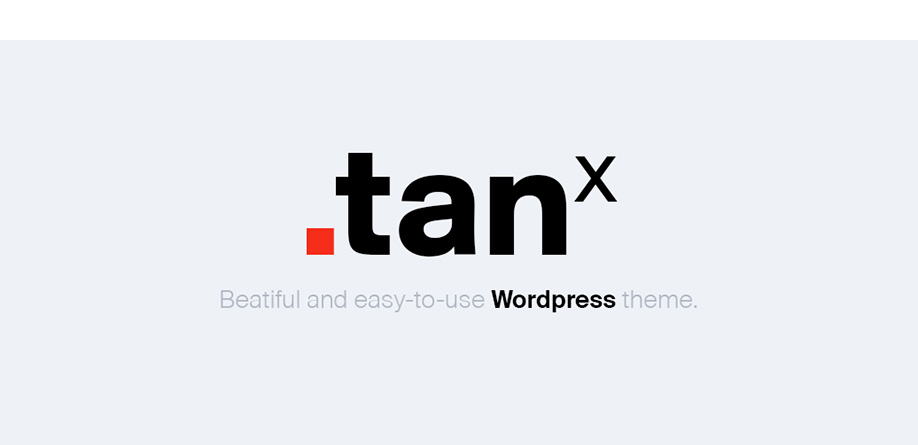 TANx | Beautiful & Free – Blog WordPress Theme