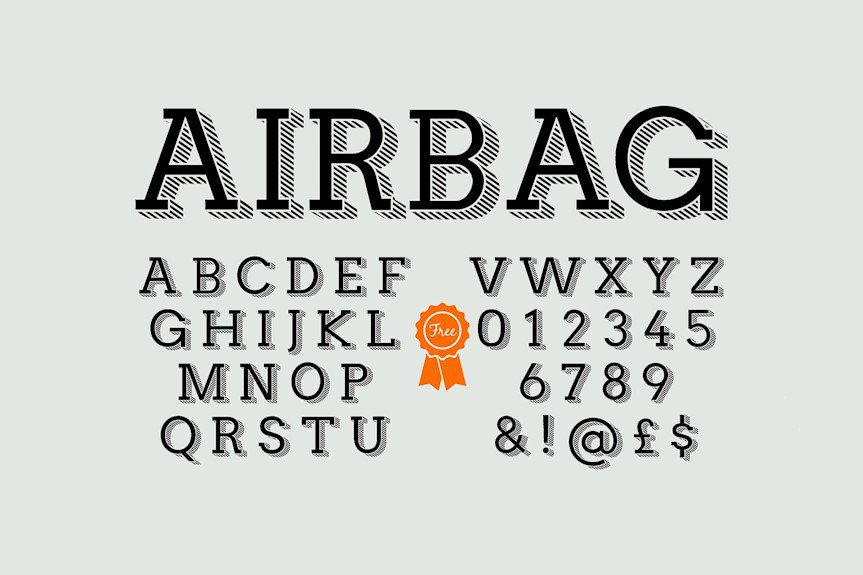 airbag-font
