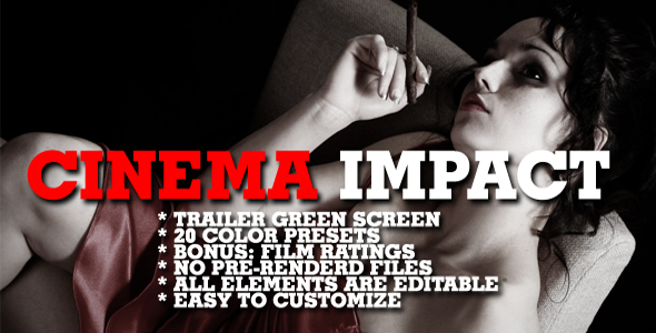 Cinema impact - Color presets