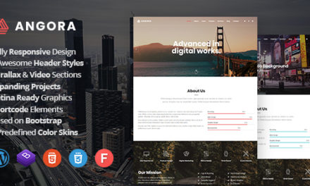 Free Premium WordPress Theme – Angora – Responsive One Page Parallax WP Theme
